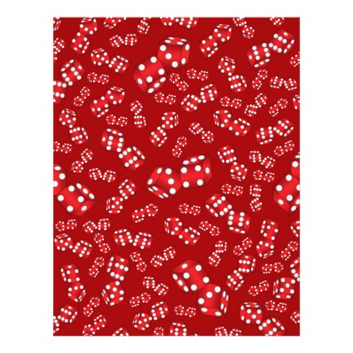 Fun red dice pattern full color flyer