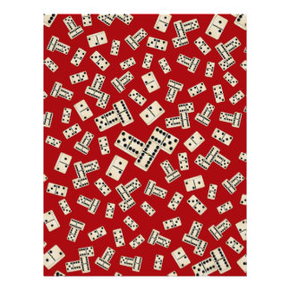 Fun red domino pattern personalized flyer