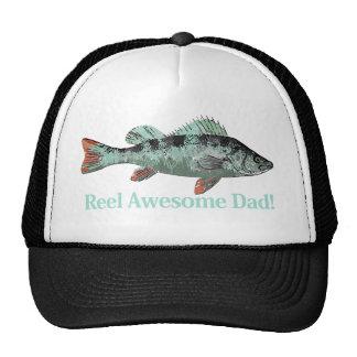 Fun Reel Awesome Dad Fishing Perch Cap