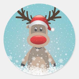 Fun Reindeer Sticker