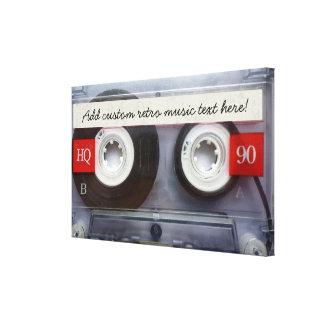 Fun Retro Cassette Tape Stretched Canvas Print