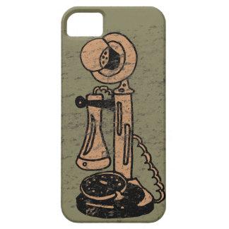 Fun Retro Grunge Style Upright Telephone iPhone 5 Case