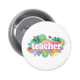 Fun Retro Teacher 6 Cm Round Badge