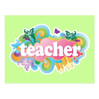 Fun Retro Teacher Postcard
