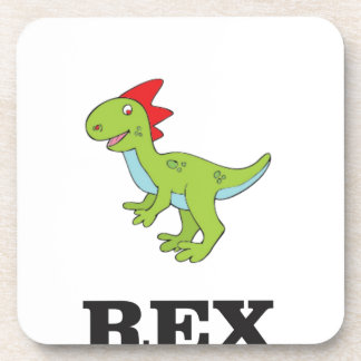 fun rex dino beverage coasters