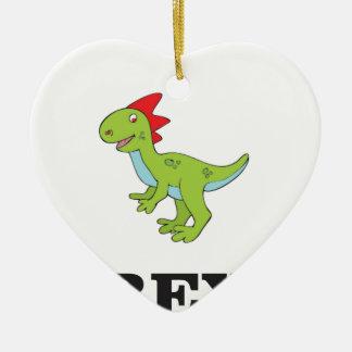 fun rex dino ceramic ornament