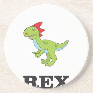 fun rex dino drink coasters
