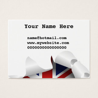 Fun Ripped Hole With Union jack Flag Business Card