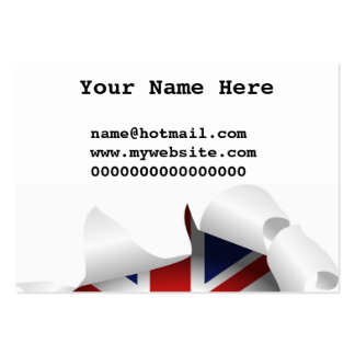 Fun Ripped Hole With Union jack Flag Pack Of Chubby Business Cards
