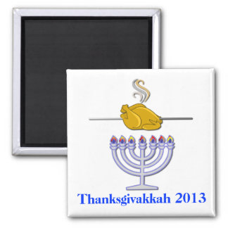 Fun Roasting Turkey Thanksgivakkah Commemorative Magnet
