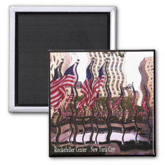 Fun Rockefeller Center Gifts Square Magnet
