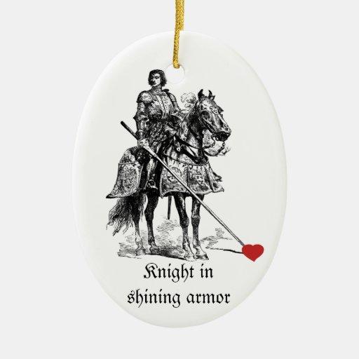 Fun Romantic Knight in Shining Armor Humor Ornament
