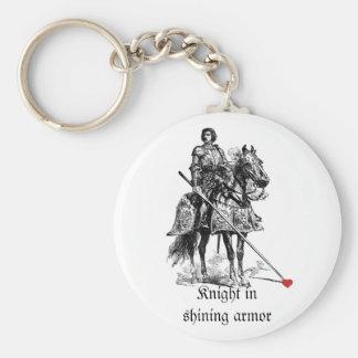 Fun Romantic Knight in Shining Armor Humor Key Ring