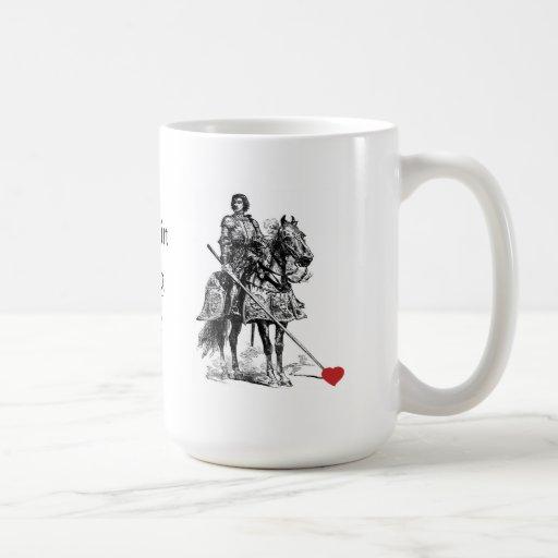 Fun Romantic Knight in Shining Armor Humor Coffee Mugs