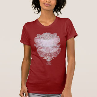Fun romantic lace design with your name t shirt