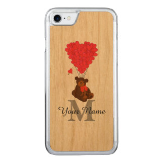 Fun romantic teddy bear carved iPhone 8/7 case