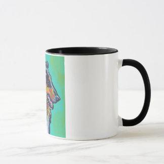 Fun Rough Collie bright colorful Pop Art Mug