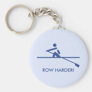 Fun row harder sports key ring