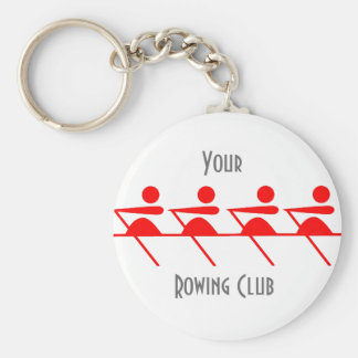 Fun Rowing club Basic Round Button Key Ring