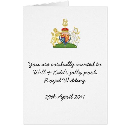 Fun Royal Wedding party invites Card