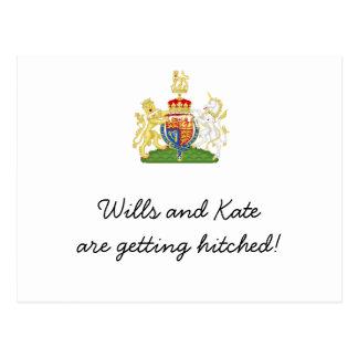 Fun Royal Wedding party invites Post Card