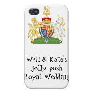 Fun Royal Wedding souvenir - Prince William & Kate iPhone 4 Covers