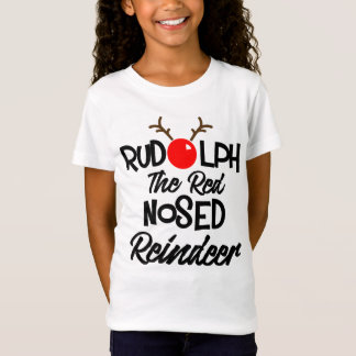 Fun Rudolph The Red Nosed Reindeer Xmas Graphic T-Shirt