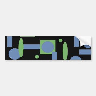 Fun Sage and Periwinkle Geometric Shapes Pattern Bumper Sticker
