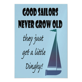 Fun Sailing Saying Magnetic Card Magnetic Invitations