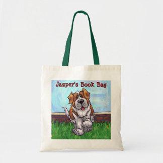 Fun Saint Bernard Dog Personal Book Bag