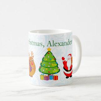 Fun Santa Claus and other Christmas characters, Coffee Mug