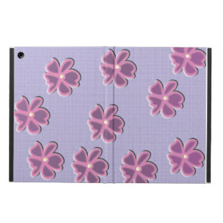 Fun sassy flowers on blue fabric texture cover cover for iPad air
