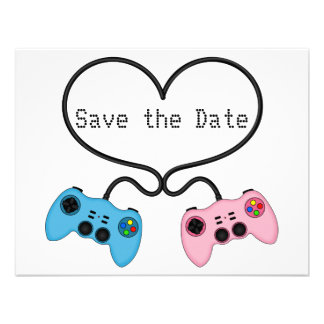 Fun Save the Date for Video Game Players Custom Invite