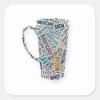 Fun Sayings Quote - Coffee, Java, … … Square Sticker