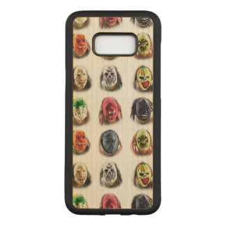 Fun Scary Mask Pattern Carved Samsung Galaxy S8+ Case