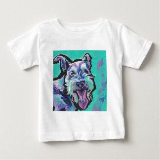 Fun schnauzer bright colorful Pop Art Baby T-Shirt