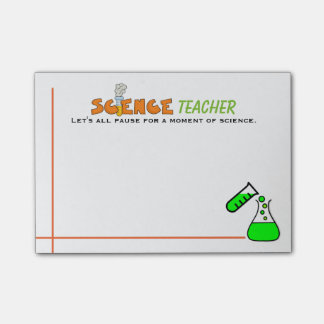 Fun Science Teacher Post-it Notes