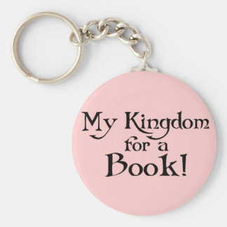 Fun Shakespeare My Kingdom for a Book T-shirt Key Ring