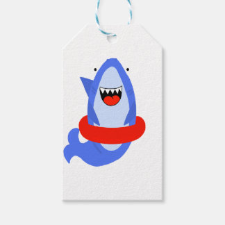 Fun Shark with Red Swim Ring Gift Tags