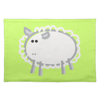 Fun Sheep on Green Placemat