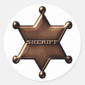 Fun Sheriff Badge Sticker