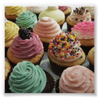 Fun-Sized Decorative Cupcakes Poster