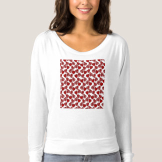 Fun Sketchy Hearts Pattern T-Shirt