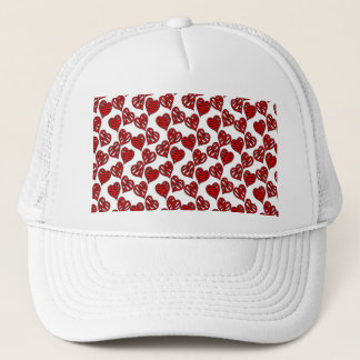 Fun Sketchy Hearts Pattern Trucker Hat