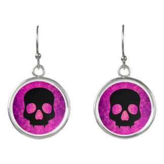 Fun skull design earrings