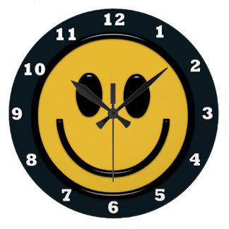 Fun Smiley face Hippie wall clock