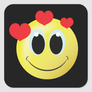 Fun smiley face love  home sticker