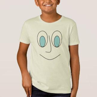 Fun Smiley Man Face Design Kids T-Shirt