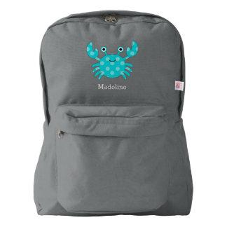 Fun Smiling Aqua Crab Backpack