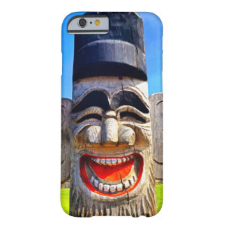Fun smiling silly laughing teeth wooden face photo barely there iPhone 6 case